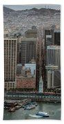 Port Of San Francisco And Downtown Financial District Beach Towel