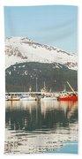 Port Of Seward Alaska  Beach Towel