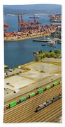 Port Of Vancouver Bc Beach Towel