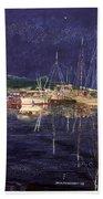 Marina Evening Reflections Beach Towel