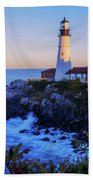 Portland Head Light II Beach Towel