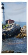Portland Head Lighthouse Portland Me Beach Towel