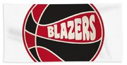 Portland Trail Blazers Retro Shirt Beach Towel