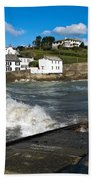 Portmellon In Winter Beach Towel