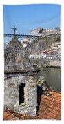 Porto And Gaia Cityscape In Portugal Beach Towel