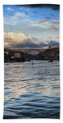 Porto And Vila Nova De Gaia River View Beach Towel