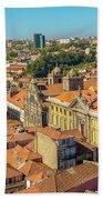 Porto Skyline Portugal Beach Towel
