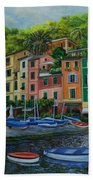 Portofino Harbor Beach Towel