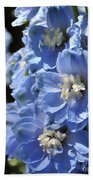 Portrait Blue Delphinium 114 Beach Towel