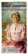 Portrait Commissions By Portrait Artist Carole Spandau Beach Towel
