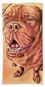 Portrait Drawing Of A Dog Beach Towel