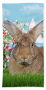 Portrait Of A Gregarious Brown Bunny Beach Towel