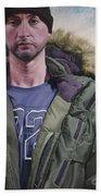 Portrait Of A Mountain Walker. Beach Towel