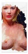 Portrait Of A Naked Lady Beach Towel