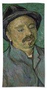 Portrait Of A One Eyed Man Saint Remy De Provence  Autumn 1889 Vincent Van Gogh 1853  1890 Beach Towel