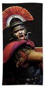 Portrait Of A Roman Legionary - 11 Beach Towel