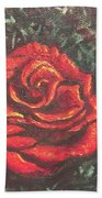 Portrait Of A Rose 4 Beach Towel