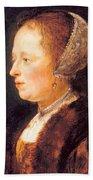 Portrait Of A Woman 1640 Beach Towel