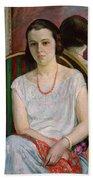 Portrait Of A Woman Beach Towel by Henri Lebasque
