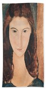 Portrait Of A Young Girl Beach Towel by Amedeo Modigliani