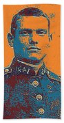 Portrait Of A Young  Wwi Soldier Series 12 Beach Towel