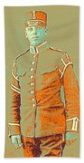 Portrait Of A Young  Wwi Soldier Series 14 Beach Towel