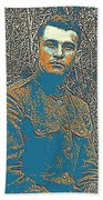 Portrait Of A Young  Wwi Soldier Series 16 Beach Sheet