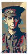 Portrait Of A Young  Wwi Soldier Series 19 Beach Sheet