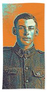 Portrait Of A Young  Wwi Soldier Series 6 Beach Towel
