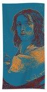 Portrait Of A Youth 50 By Adam Asar -  Asar Studios Beach Towel