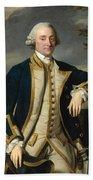 Portrait Of Admiral Sir Hugh Palliser 1st Bart Beach Towel