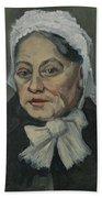 Portrait Of An Old Woman Antwerp December 1885 Vincent Van Gogh 1853  1890 Beach Towel
