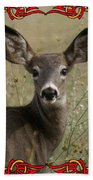 Portrait Of Bambi Beach Towel