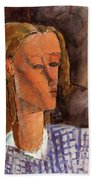 Portrait Of Beatrice Hastings 1916 Beach Towel