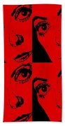 Portrait Of Catherine Pop Art Design Beach Towel