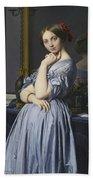 Portrait Of Comtesse D'haussonville Beach Towel