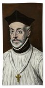 Portrait Of Diego De Covarrubias Y Leiva Beach Towel
