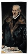 Portrait Of Dr. Francisco De Pisa Beach Towel