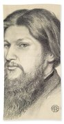 Portrait Of Ford Madox Brown Beach Towel
