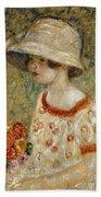 Portrait Of Frances Kilmer Beach Towel