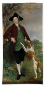 Portrait Of George Venables Vernon Beach Towel by Thomas Gainsborough