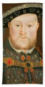 Portrait Of Henry Viii Beach Towel