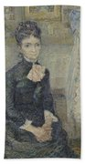 Portrait Of Leonie Rose Charbuy-davy Paris  March  April 1887 Vincent Van Gogh 1853  1890 Beach Towel