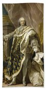 Portrait Of Louis Xv Of France Beach Towel
