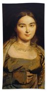 Portrait Of Madame Ingres Beach Towel