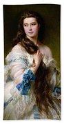 Portrait Of Madame Rimsky Korsakov Beach Towel by Franz Xaver Winterhalter