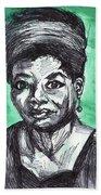 Portrait Of Maya Angelou Beach Towel