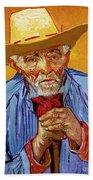 Portrait Of Patience Escalier Beach Towel by Vincent van Gogh
