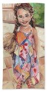 Portrait Painting Beach Towel