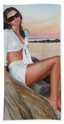 Portrait Beach Towel